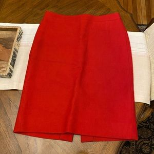 J.Crew No. 2 Pencil Skirt in Red